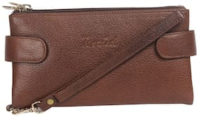 Rozid Women Brown Leather Wallet