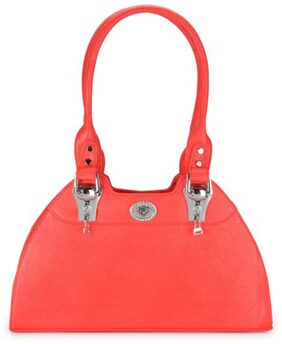 RRTC Women Faux Leather Handheld Bag - Red