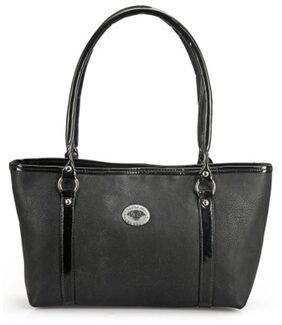 RRTC Women Faux Leather Handheld Bag - Black