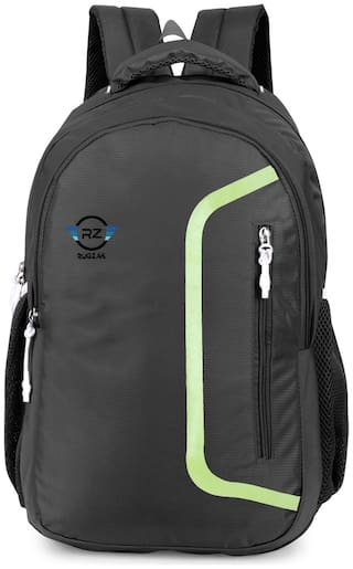 rug-zak Rugzak waterproof expandable 15.6 inches laptop bag with rain cover (Black) Small (Upto 17 inches) Waterproof Laptop Backpack - Black