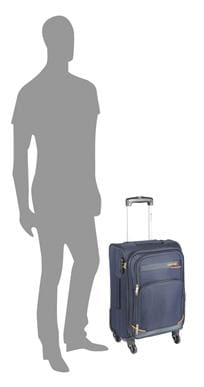 Safari Maasaimara Blue Polyester Strolley Bag (Small Cabin Luggage with 5 Years International Warranty)