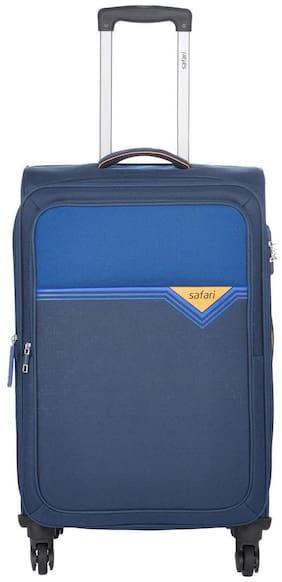 Safari Cabin Size Soft Luggage Bag ( Blue , 4 Wheels )