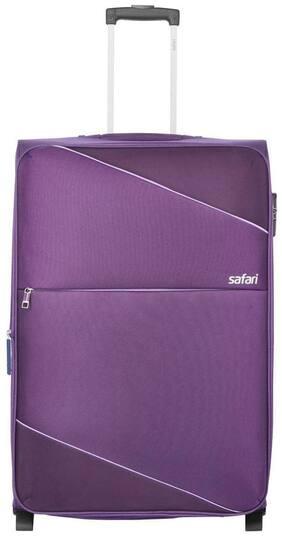Safari Cabin Size Soft Luggage Bag ( Purple , 2 Wheels )