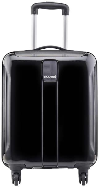 Safari Cabin Size Soft Luggage Bag ( Black , 4 Wheels )