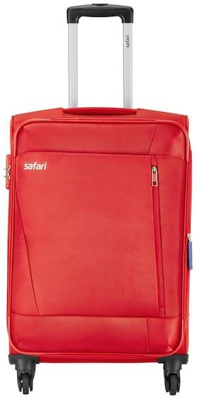 Safari Cabin Size Soft Luggage Bag - Red , 4 Wheels