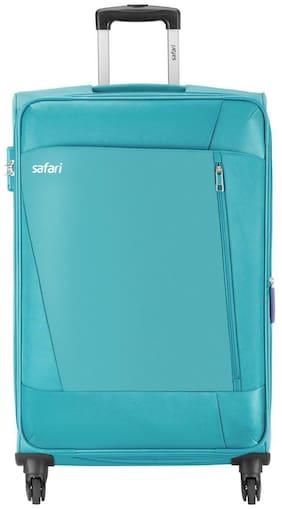 Safari Cabin Size Soft Luggage Bag ( Green , 4 Wheels )