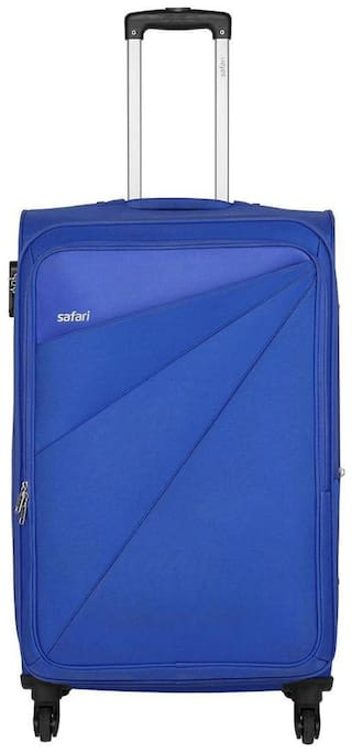 Safari Cabin Size Soft Luggage Bag - Blue , 4 Wheels
