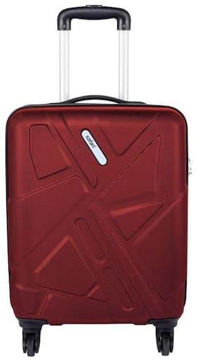 Safari Cabin Size Hard Luggage Bag ( Red , 4 Wheels )