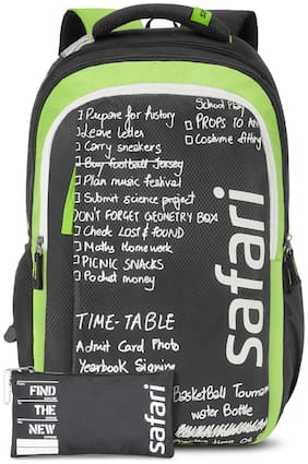 Safari CHALKBOARD 3 Compartment School Backpack with Pencil Pouch (CHALKBOARD19CBBLK)