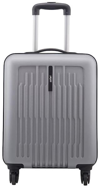 Safari Cabin Size Hard Luggage Bag - Silver , 4 Wheels