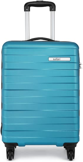 Safari Dorado Cabin Size Hard Luggage Bag ( Blue , 4 Wheels )