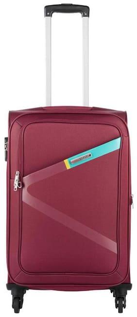 Safari Greater 4 W 65 Red Strolley Bag (Medium Luggage wit 5 Years International Warranty)