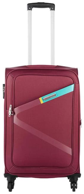 Safari Greater 4 W 55 Red Strolley Bag (Small Cabin Luggage with 5 Years International Warranty)