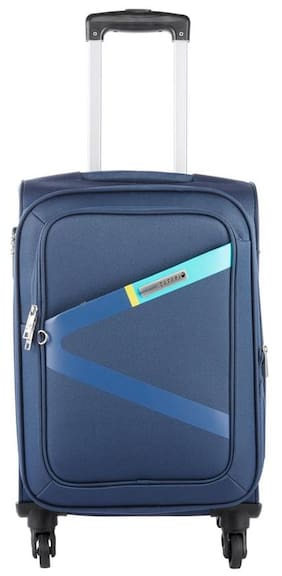 Safari Greater 4 W 55 Blue Strolley Bag (Small Cabin Luggage with 5 years International Warranty)