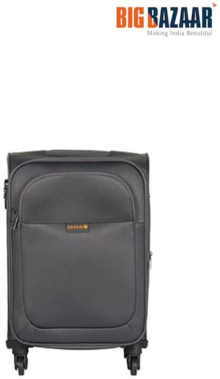 Safari Jazz Large Size Soft Luggage Bag ( Grey , )