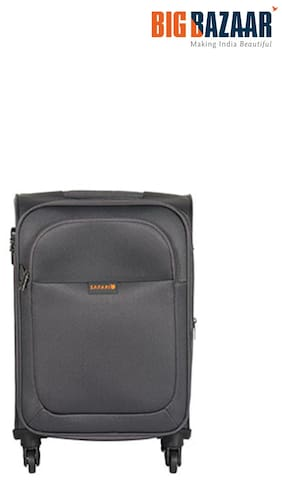 Safari Large Size Soft Luggage Bag - Grey , No Wheels