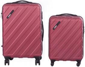 Safari Knight Cabin & Medium Size Luggage Set ( Maroon , 4 Wheels )