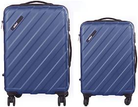 Safari Knight Cabin & Medium Size Luggage Set ( Blue , 4 Wheels )