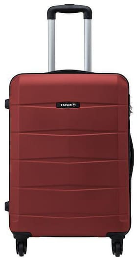 Safari Large Size Hard Luggage Bag - Red , 4 Wheels