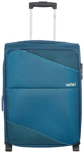 Safari Large Size Soft Luggage Bag - Green , 2 Wheels