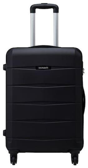 Safari Large Size Hard Luggage Bag - Black , 4 Wheels