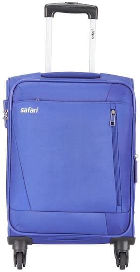 Safari Large Size Soft Luggage Bag ( Blue , 4 Wheels )