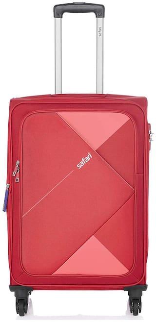 Safari Maasaimar Large Large Size Soft Luggage Bag ( Red , 4 Wheels )