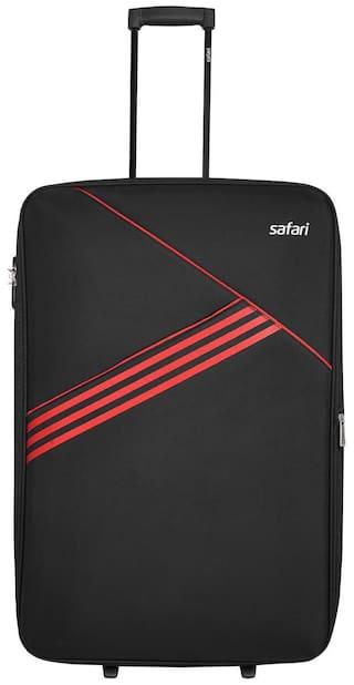 Safari Medium Size Soft Luggage Bag ( Black , 2 Wheels )