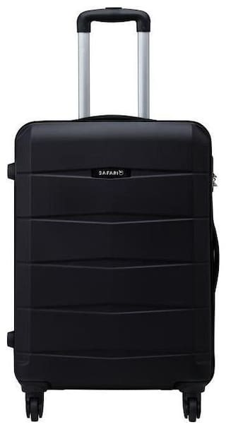 Safari Medium Size Hard Luggage Bag ( Black , 4 Wheels )