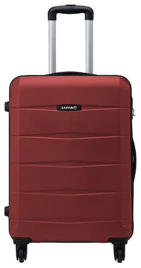 Safari Cabin Size Hard Luggage Bag - Red , 4 Wheels