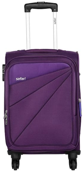 Safari Medium Size Soft Luggage Bag - Purple , 4 Wheels