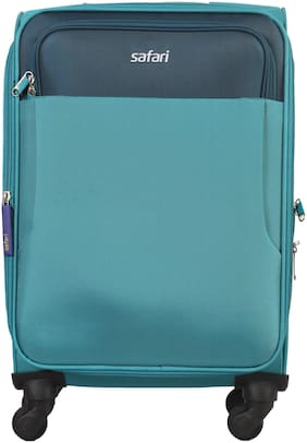 Safari Large Size Soft Luggage Bag - Blue , 4 Wheels