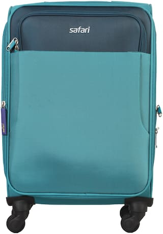 Safari Montreal Cabin Size Soft Luggage Bag ( Blue , 4 Wheels )