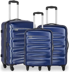 Safari Nexus Cabin & Medium Size Luggage Set ( Blue , 4 Wheels )