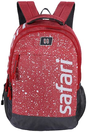 Safari Red Polyester Backpack