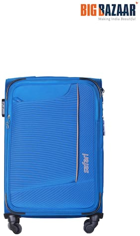 Safari Medium Size Soft Luggage Bag - Blue , 4 Wheels