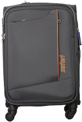Safari Rush Cabin Size Soft Luggage Bag ( Grey , 4 Wheels )