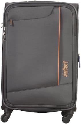 Safari Medium Size Soft Luggage Bag - Grey , 4 Wheels