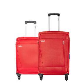 Safari Savage 4W Red (Small & Medium Luggage - Set of 2 with 5 Years International Warranty)