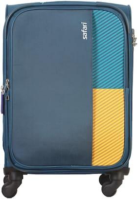 Safari Cabin Size Hard Luggage Bag - Blue , 4 Wheels