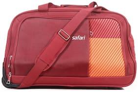 Safari Shrill Cabin Size Duffle Strolly Bag ( Red , 2 Wheels )