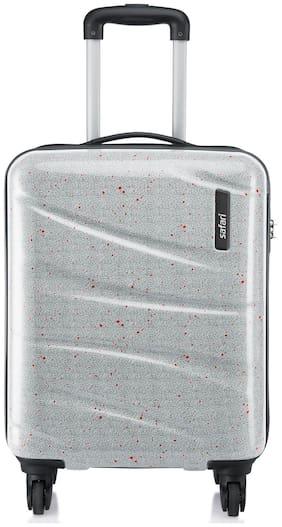 Safari SPLASH654WPRN Medium Size Hard Luggage Bag ( White , 4 Wheels )