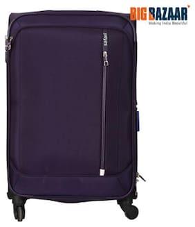 Safari Stellar Medium Size Soft Luggage Bag ( Purple , 4 Wheels )