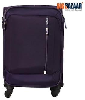 Safari Stellar Cabin Size Soft Luggage Bag ( Purple , 4 Wheels )