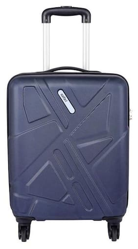 Safari Cabin Size Hard Luggage Bag - Purple , 4 Wheels