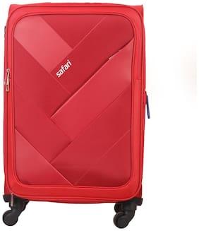 Safari Medium Size Soft Luggage Bag - Red , 4 Wheels