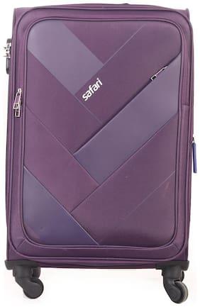 Safari Weave Medium Size Soft Luggage Bag ( Purple , 4 Wheels )