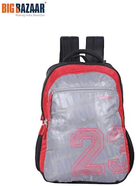 Safari Red Waterproof Polyester Backpack