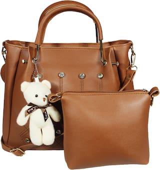 SaleBox Tan PU Handheld Bag