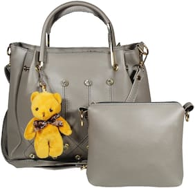 SaleBox Grey PU Handheld Bag